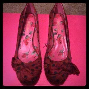 🐞❤️ Betsey Johnson Ladybug Kitten Heel Flats❤️🐞